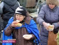 Как и чем обедают активисты Антимайдана. Фоторепортаж с места событий