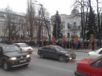 «Титушки» организованными колоннами снова двинули в центр Киева