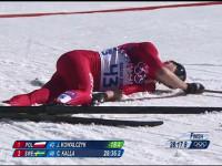 Польская лыжница выиграла золото Олимпиады, несмотря на многоуровневый перелом