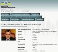 Захарченко и Клюев появились в списке разыскиваемых лиц на сайте МВД