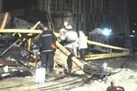 В Киеве рухнул башенный кран. Женщина погибла на месте