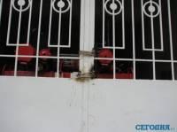 В здании харьковской мэрии заварили ворота во внутренний двор