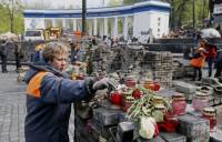 Центр Киева медленно, но верно, освобождается от баррикад