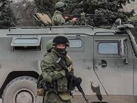По центру Донецка в сторону Макеевки проехала военная колонна вооруженных мирных кавказцев