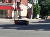 В Мариуполе у штаба ДНР появился гроб с надписью «Вон из города»