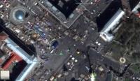 В Google Maps на карту Киева нанесли баррикады и палатки