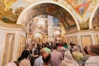 Как православные прощались с митрополитом Владимиром