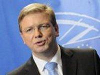 Фюле заверил, что в течение лета в Украине будет размещена полицейская миссия Евросоюза
