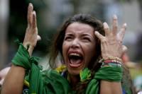 Реакция болельщиков сборной Бразилии на позорное поражение от Германии