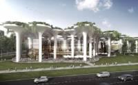 В Минске к Евро-2020 решили отгрохать современный стадион с колоннами, генерирующими энергию солнца, воздуха и воды
