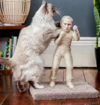 За хорошие деньги ваша кошка сможет точить когти о самого Путина