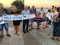 Жители Тель-Авива устроили акцию в поддержку Украины. Фоторепортаж с места событий