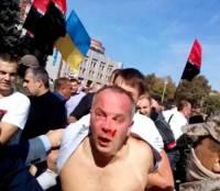 В Одессе на ступеньках ОГА избили Шуфрича