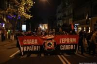 В Киеве и Харькове проходят акции, посвященные годовщине УПА. Много людей в камуфляже, местами зажигаются фаеры