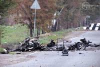 В Мариуполе диверсанты обстреляли колонну украинской техники. Одна машина взорвалась