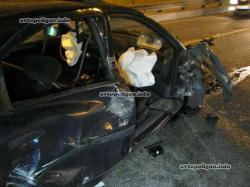 В Киеве пьяный водитель «Форда» «покалечил» грузовик и был таков