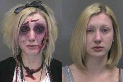 Американка так старательно загримировалась к Хэллоуину, что дважды за три часа попала в полицейский участок