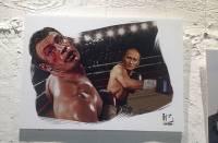 В Москве прошла выставка работ, на которых Путин с легкостью нокатирует даже Кличко
