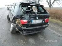 На Тернопольщине BMW вылетел с дороги в кювет и перевернулся. Погиб пассажир