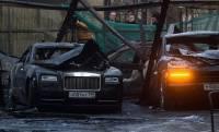 Богатые тоже плачут. В центре Москвы сгорели 12 элитных автомобилей более, чем на 3 миллиона долларов
