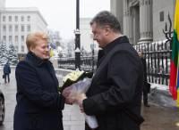 Порошенко и Грибаускайте рассказали о роли языка в формировании правительства
