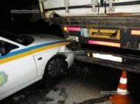 Суровый николаевский мужик, поссорившись с женой, выпил водки, наехал на гаишника и протаранил патрульный автомобиль
