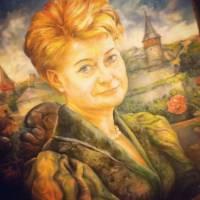 Президент Литвы показала свой портрет, написанный бойцом «Азова»