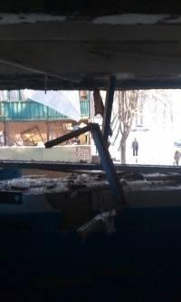 Так выглядит один из жилых кварталов Донецка после очередного обстрела. Фото с места событий