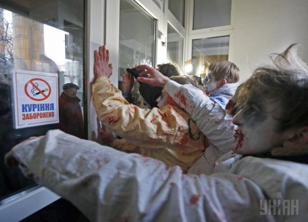 Украинская молодежь против трансляции российских телеканалов