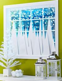 Несколько оригинальных идей, как к Новому году украсить окна в доме