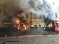 В Киеве горит ресторан. Причины возгорания неизвестны