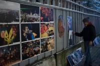 Улицы Львова на время превратили в музей памяти событий на Майдане