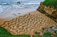 Американец создает удивительные картины, используя вместо кисти... садовые грабли