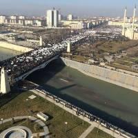 В Грозном тысячи мусульман митингуют против карикатур на Мухаммеда