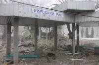 Вот, что осталось от остановки в Донецке, после попадания в нее снаряда