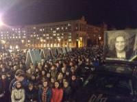 Киевляне вышли на Майдан, проводить в последний путь лидера группы «Скрябин»