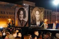 Тысячи киевлян вышли на Майдан, чтобы почтить память Кузьмы Скрябина