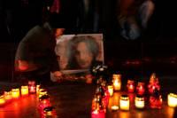 Во Львове также почтили память Скрябина: зажигали свечи, траурные лампадки и пели песни