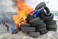 В Сумах на Масленицу жгли чучело Путина. Столб дыма можно было видеть во всех районах