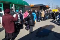 Киевляне буквально штурмом берут киоски с дешевым хлебом