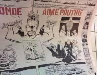 Путин стал главным героем карикатур в свежем выпуске Charlie Hebdo