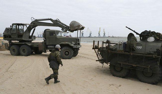ФОТО: ВСУ укрепляют побережье Азовского моря