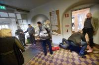 На шведского министра напали с огнетушителем