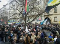 Шахтеры в центре Киева перекрыли улицу Грушевского