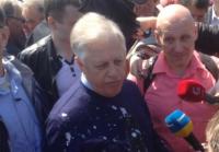 На митинге в Киеве Симоненко облили кефиром