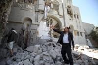 По резиденции экс-президента Йемена нанесли авиаудар