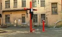 В центре Риги «распяли» Путина