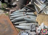 В Марьинском районе на одном из СТО обнаружили более 130 артиллерийских снарядов