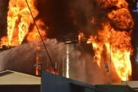Пожар на нефтебазе в Глевахе. Фоторепортаж с места события