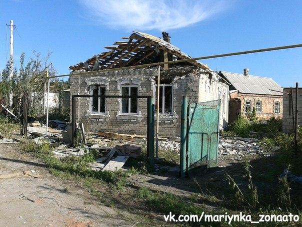 ФОТО: Новые кадры Марьинки после обстрела
